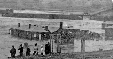 Aberdeen, Burra, in the April 1915 flood