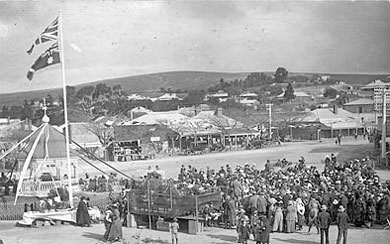 Market Square, Burra, in World War 