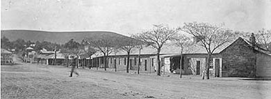Market Square, Burra, pre 1911, as it appeared before the 1915 fire