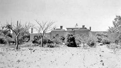 Snow at Redruth Jail, Burra, sometime between 1916 and 1922