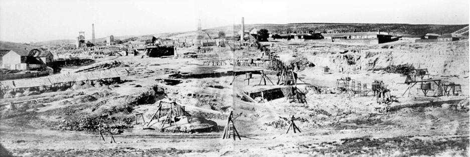 Burra Mine Panorama 1869