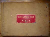 Cover of 1859 National Bank of Australia Signatures Book