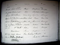 1859 National Bank of Australia Signatures Book