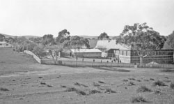 View of the Burra Model School from the rear, showing the shelter shed.