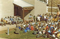 Dr. Hopgood opening the new Burra Community School on 14 April 1978