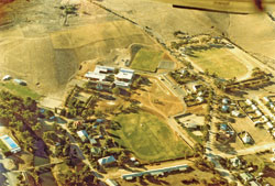 This aerial view taken in April 1978, shows, the newly constructed Burra Community School