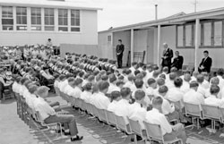 A Burra High School Assembly in the 1960s.