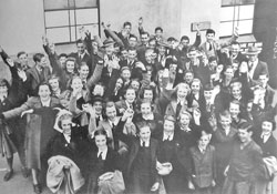 An excursion to Adelaide in 1949 by the whole of the Burra High School