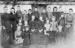 Miss Josling's Private School photographed here in Burra in 1892