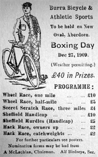 Cycling appeared in 1883