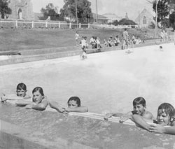 participating in Burra's Learn to Swim Campaign, January 1964