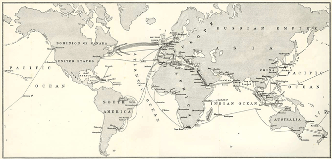 Submarine Telegraph Cables in 1903