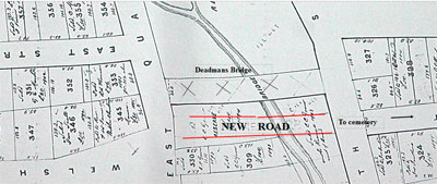 Map showing alignment of new and old Deadman's bridges