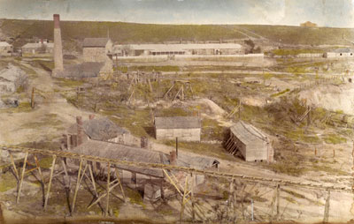 Burra Burra Mine in 1845
