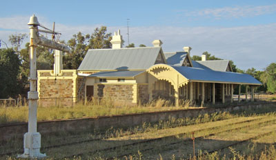 Burra Railway Station restored