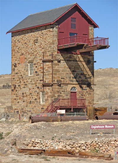 the restored Morphett's Pumping Enginehouse